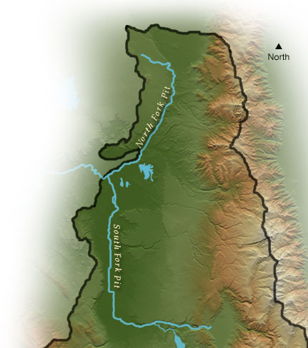 North/South Fork Pit map